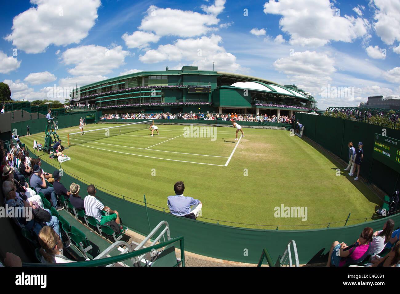 Show Court No.19, Wimbledon Tennis Championships 2014, Southwest London, England, UK - Stock Image