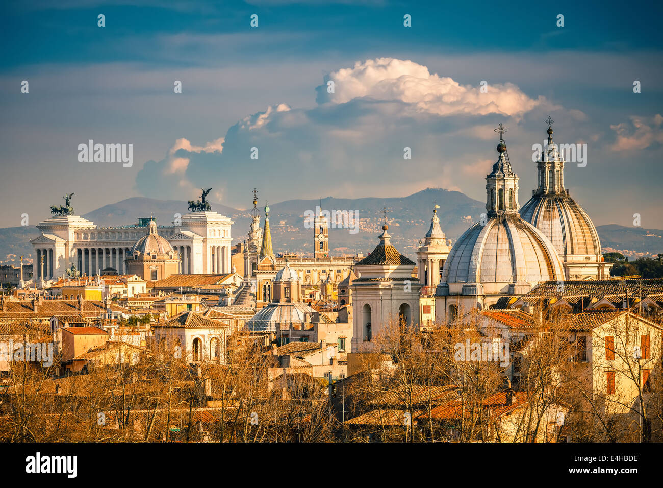 Aerial view of Rome - Stock Image