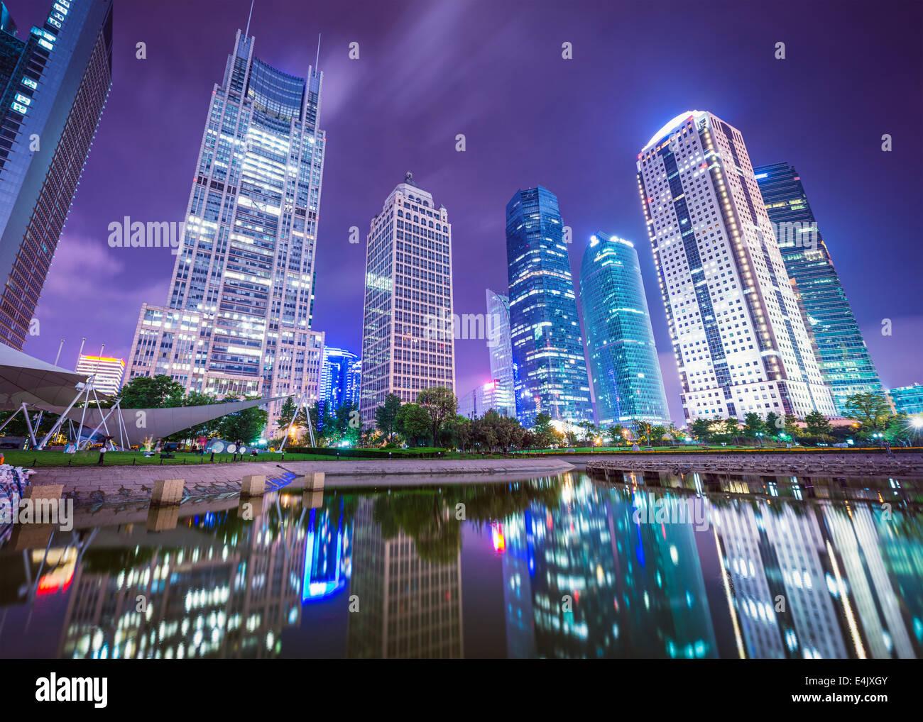Shanghai, China cityscape from Binjiang Park. - Stock Image