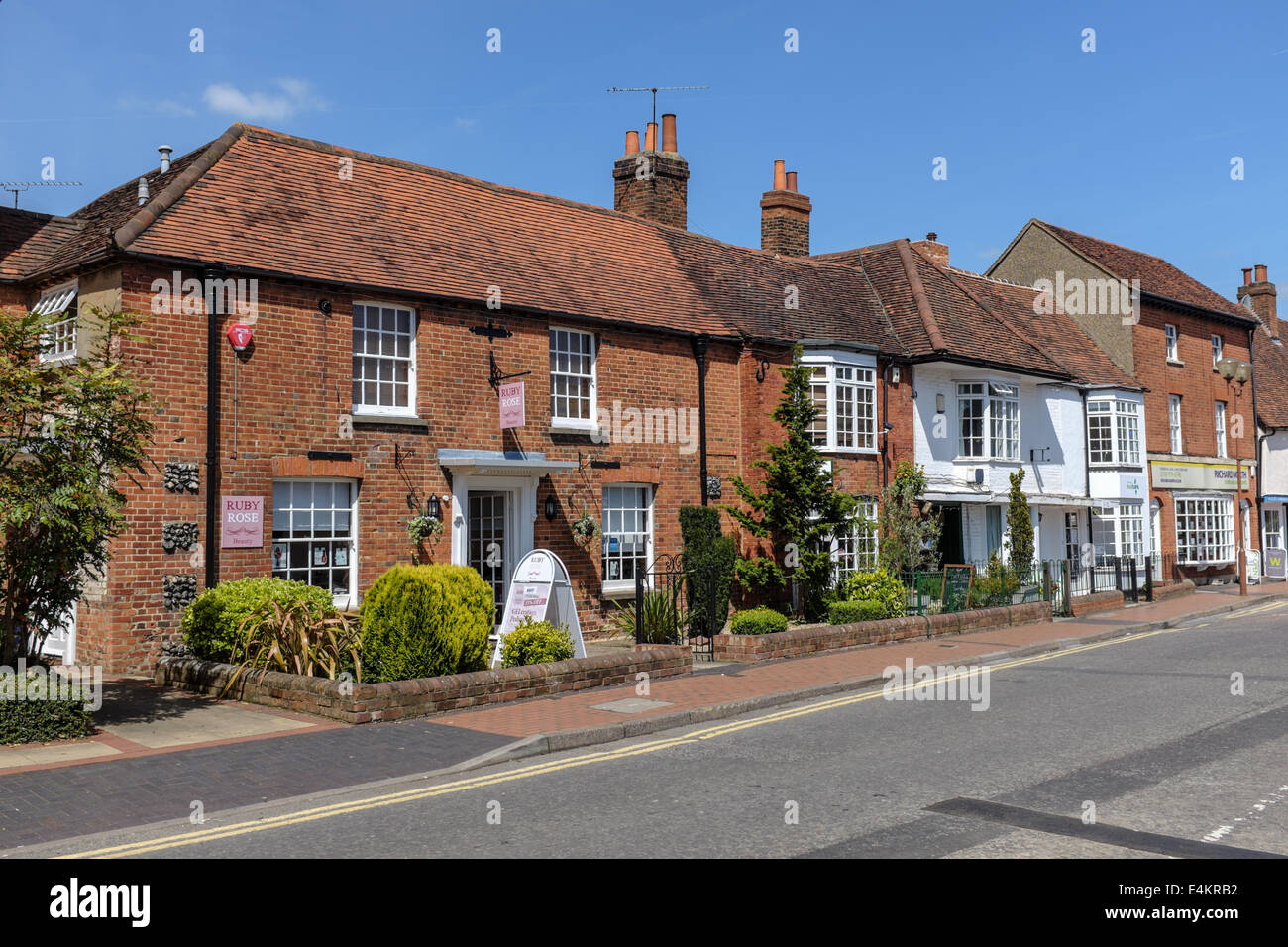 a sample of shops Rose Street Wokingham Berkshire Stock Photo