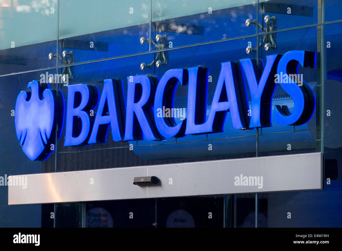Barclays bank sign Stock Photo