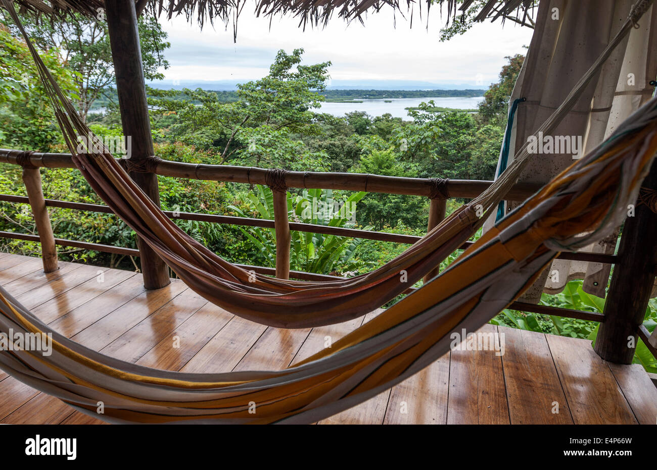 La Loma Jungle Lodge and Chocolate Farm.  Isla Bastimentos B&B  Bocas del Toro Panama Stock Photo