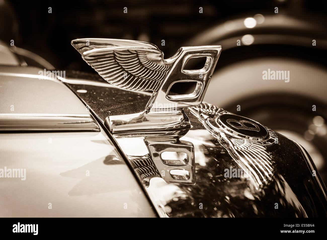 Hood Ornament Of The Full Size Luxury Car Bentley T2 Sepia 27th