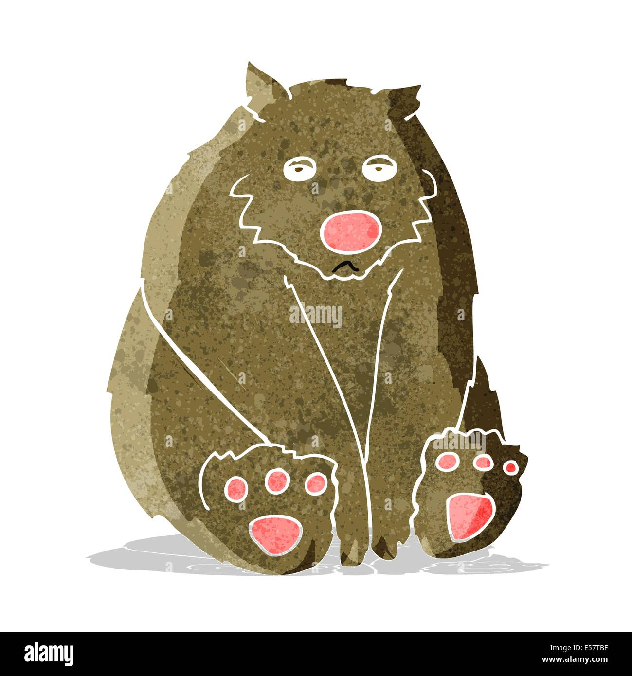 cartoon sad bear Stock Vector
