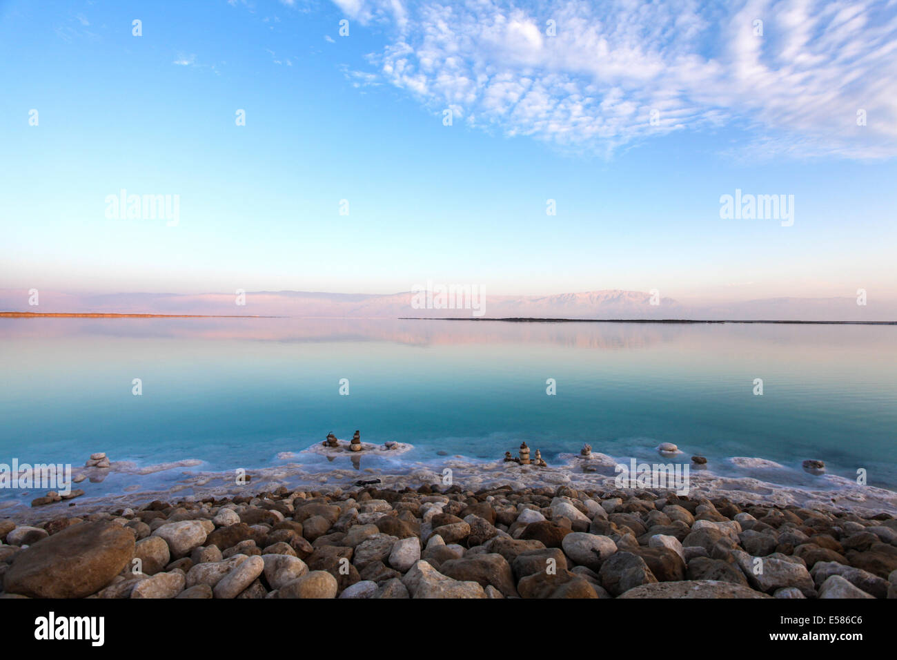 Israel, Dead Sea landscape view - Stock Image