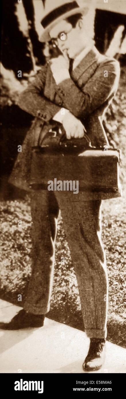 Harold LLoyd early 1900s - Stock Image