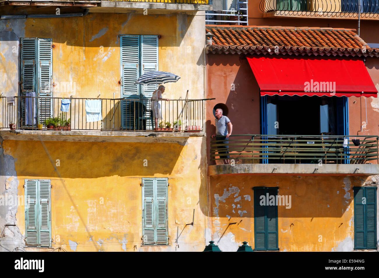 Europe, France, Alpes-Maritimes, Villefrance-sur-Mer. The discuss. Stock Photo