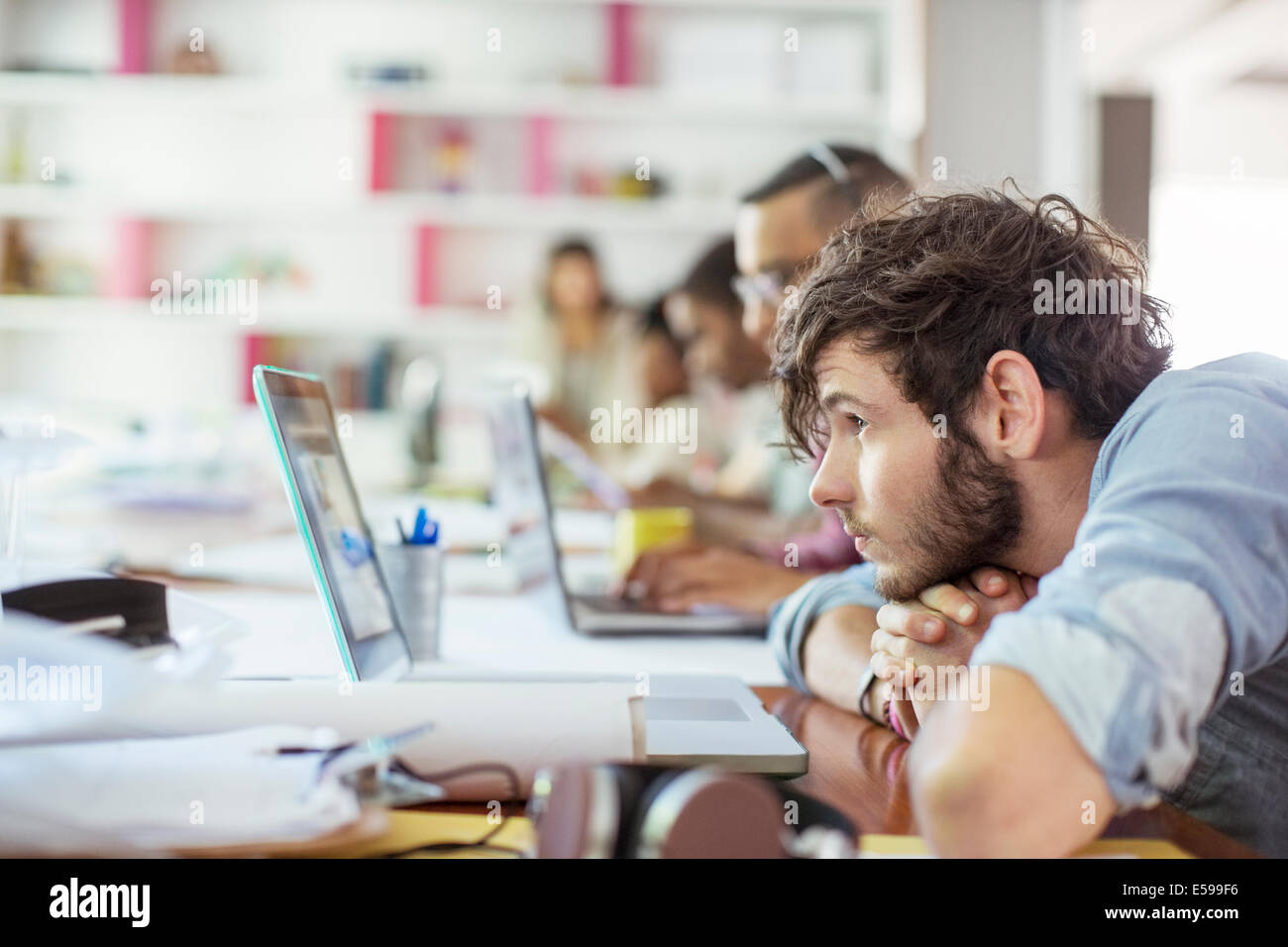 People working in office - Stock Image