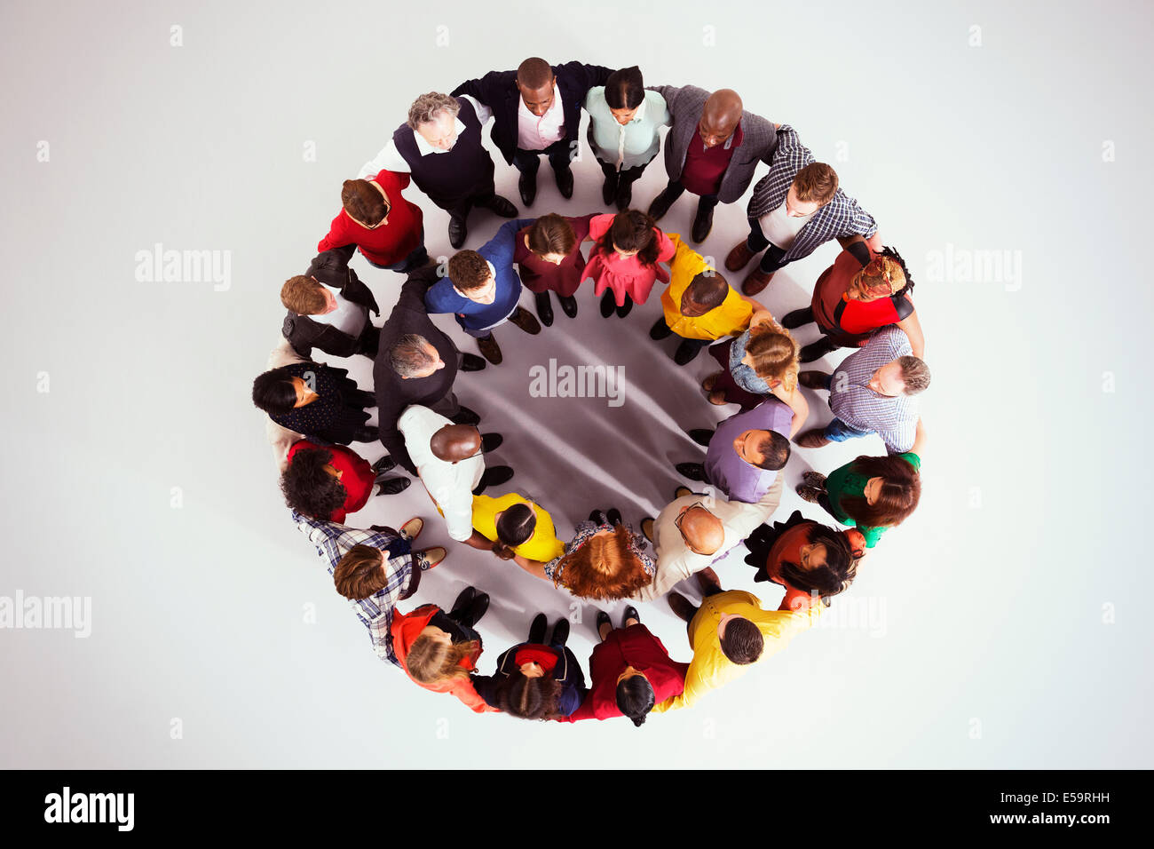 Business people in circle - Stock Image
