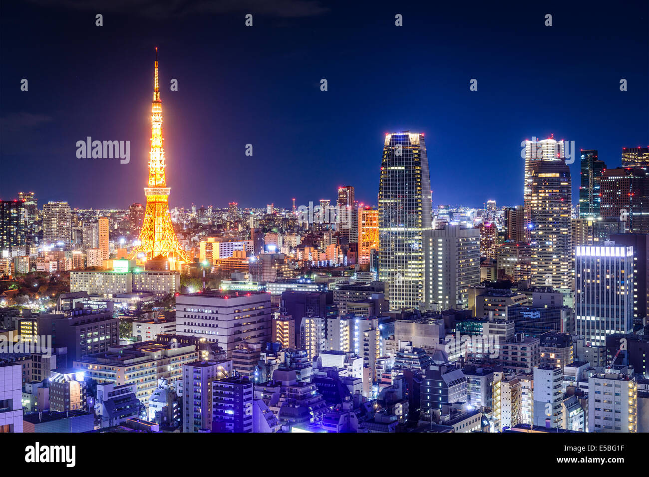 Tokyo, Japan skyline at night. - Stock Image