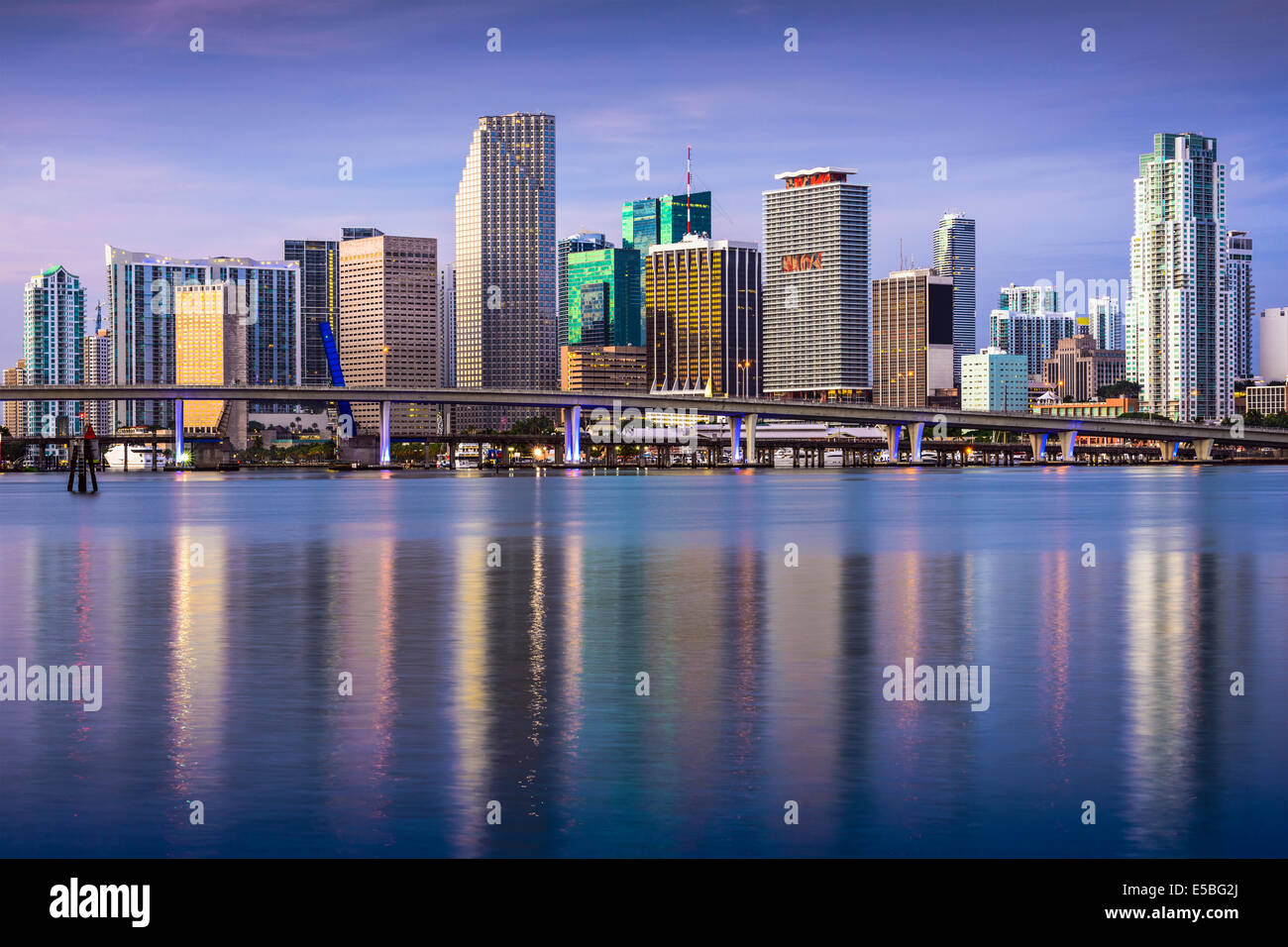 Miami, Florida, USA downtown skyline. - Stock Image