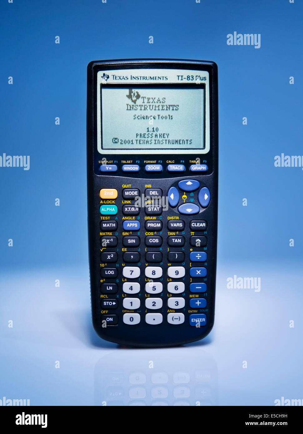 Detail front view of a Texas Instruments TI-83 Plus Graphing Stock ...