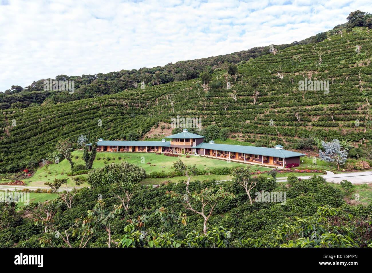Hotel Finca Lerida Coffee Plantation and Boutique Hotel. Boquete Stock Photo