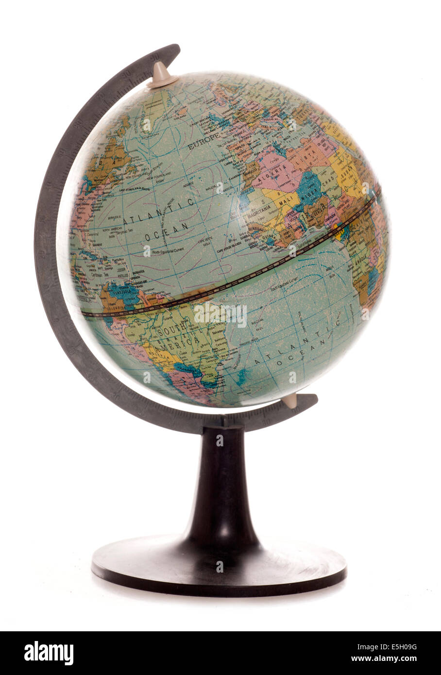vintage desk globe studio cutout - Vintage Desk Globe Studio Cutout Stock Photo: 72288204 - Alamy