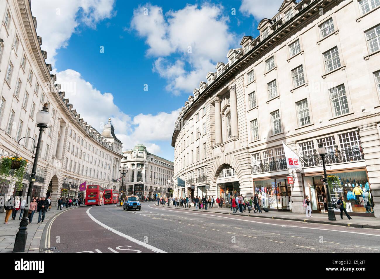 Regent Street, London, England, UK - Stock Image