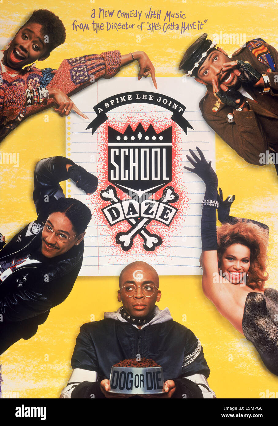 SCHOOL DAZE, left top to bottom: Kyme, Giancarlo Esposito, Spike Lee, right top to bottom: Laurence Fishburne, Tisha Stock Photo