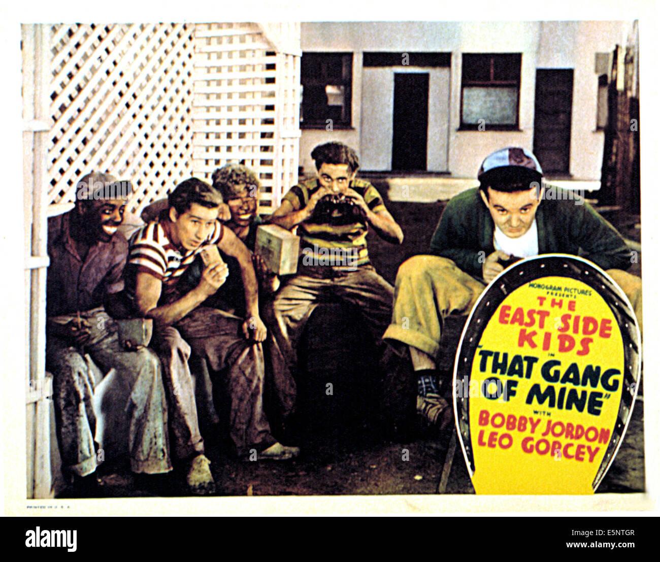 THAT GANG OF MINE, Ernest Morrison, Bobby Jordan, Eugene Francis, David Gorcey, Leo Gorcey, 1940 - Stock Image