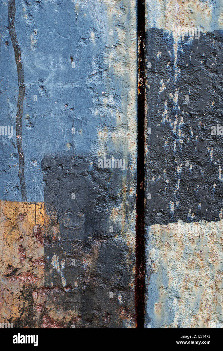 close up graphic abstract image of a rusty metal girder - Stock Image