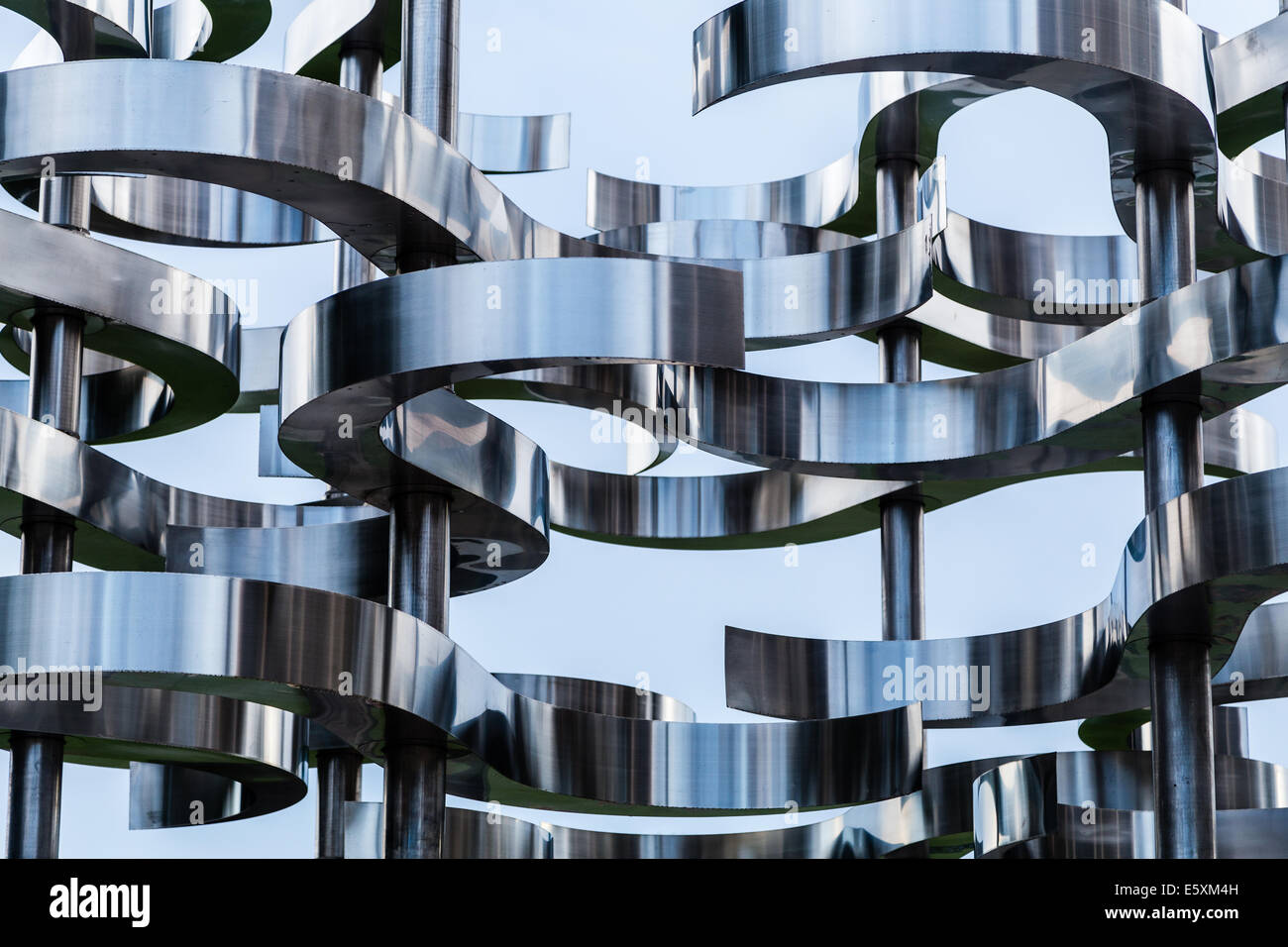 Metal Sculpture, Orlando FL - Stock Image