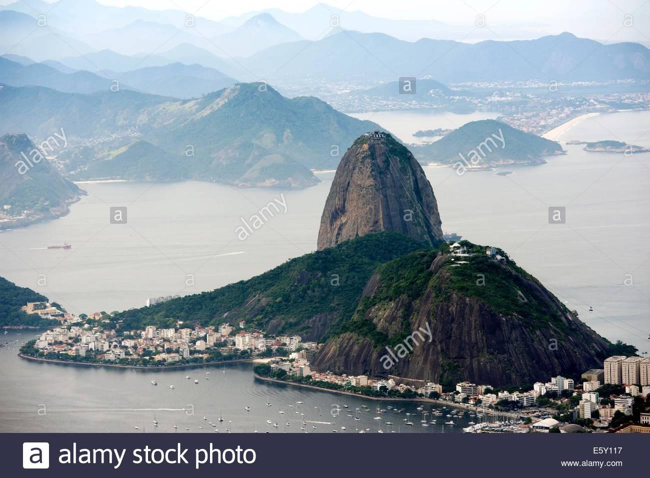 Brazil Rio de Janeiro Pao de Acucar / Sugarloaf Mountain - Stock Image