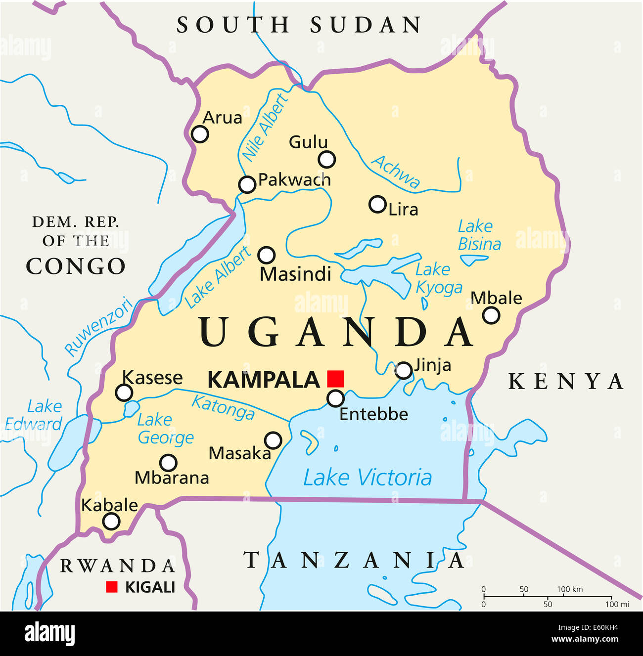 Uganda on world map 28 images africa map uganda highlighted uganda gumiabroncs Image collections