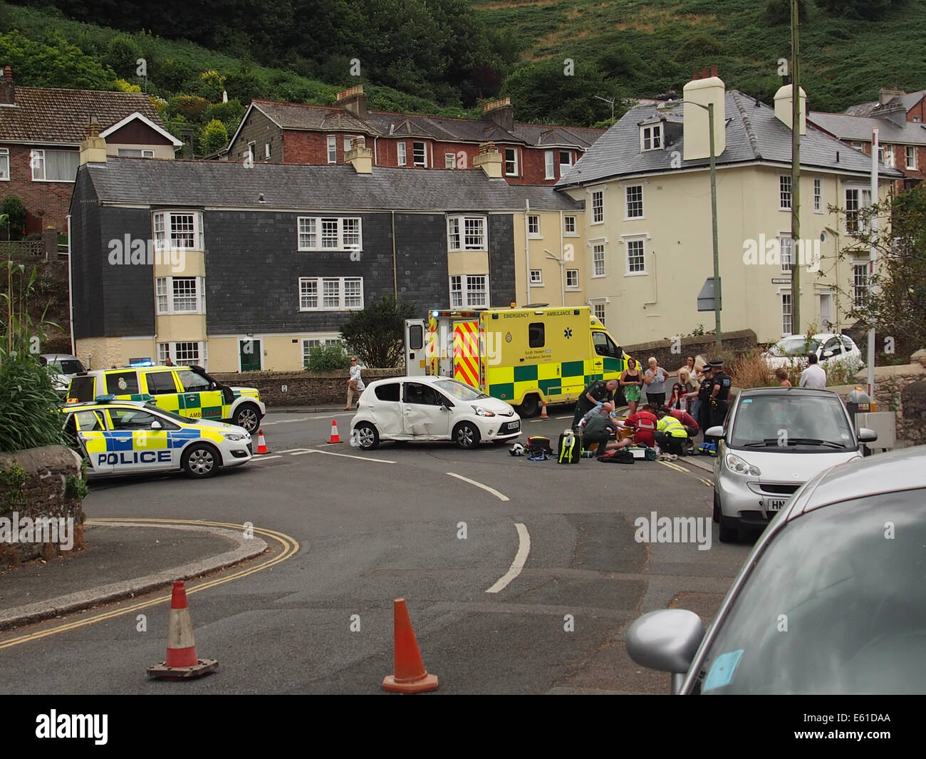 ROAD TRAFFIC ACCIDENT - Stock Image