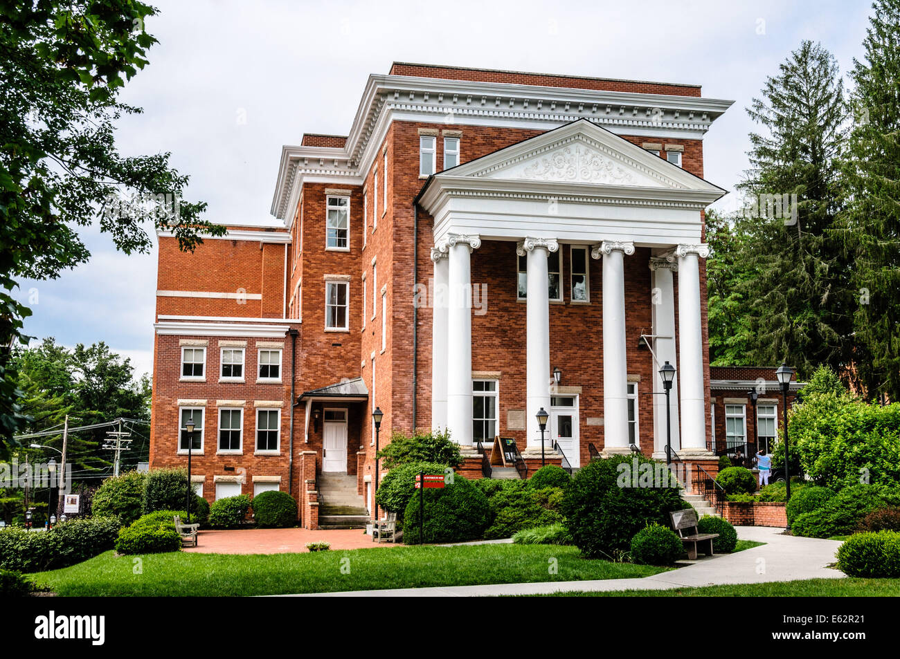 Carnegie Hall, 105 Church Street, Lewisburg, WV Stock Photo