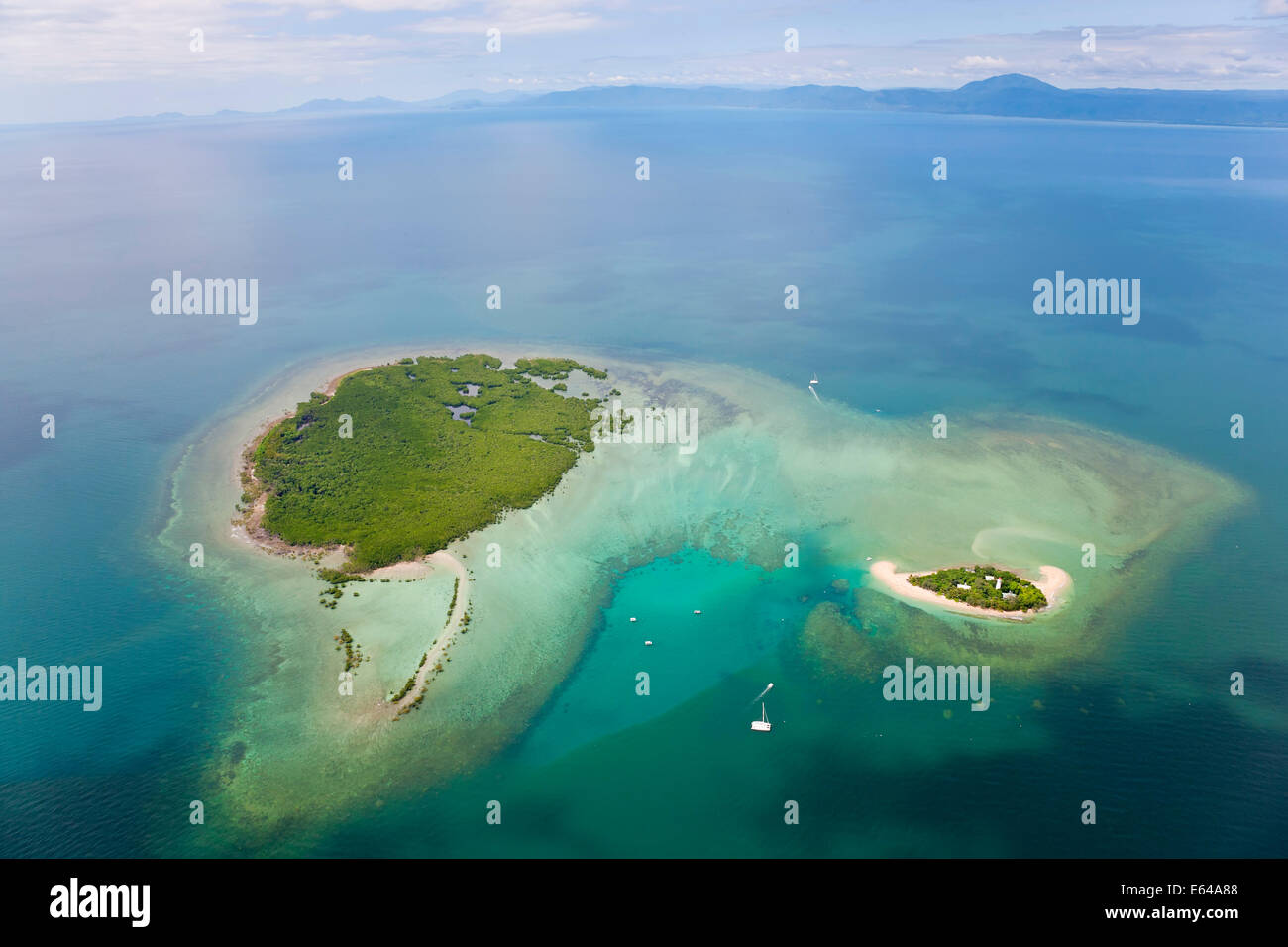 Lighthouse on Lowe Isles, Great Barrier, North Queensland, Australia - Stock Image