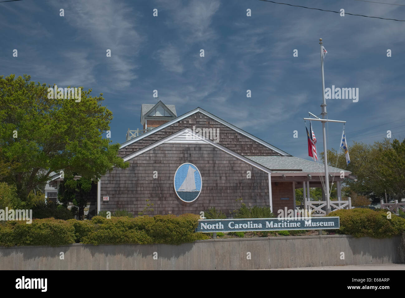 North Carolina Maritime Museum in Beaufort North Carolina. 315 Front Street - Stock Image