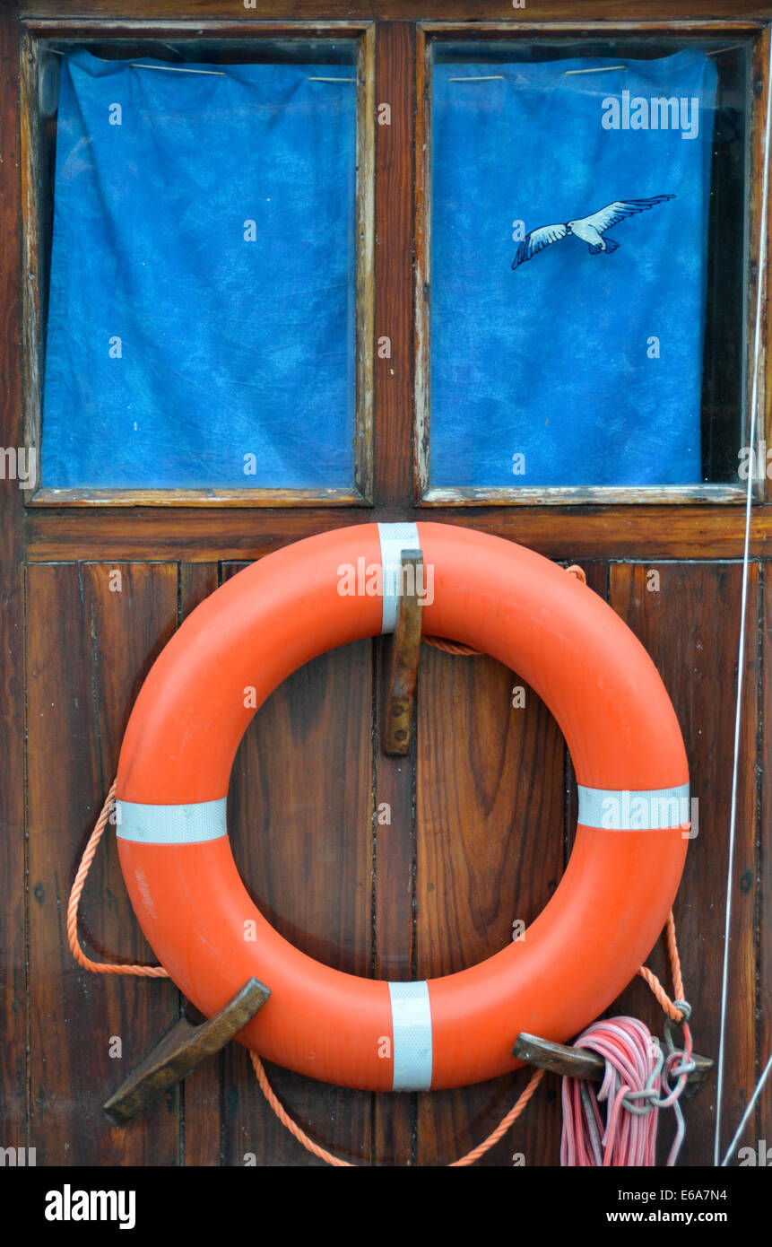 seafaring,life belt - Stock Image