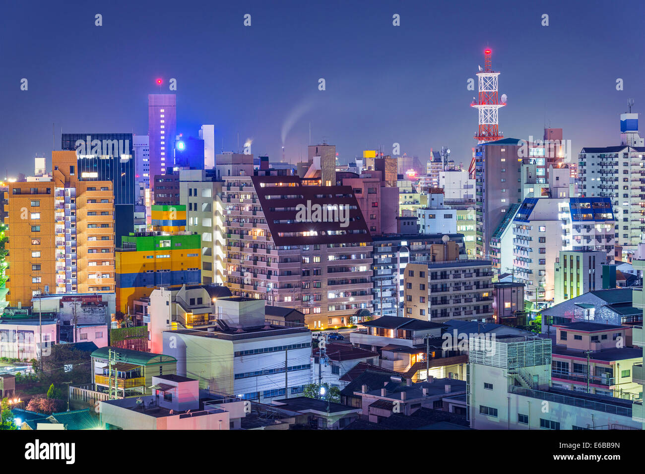 Wakayama, Japan downtown cityscape. - Stock Image