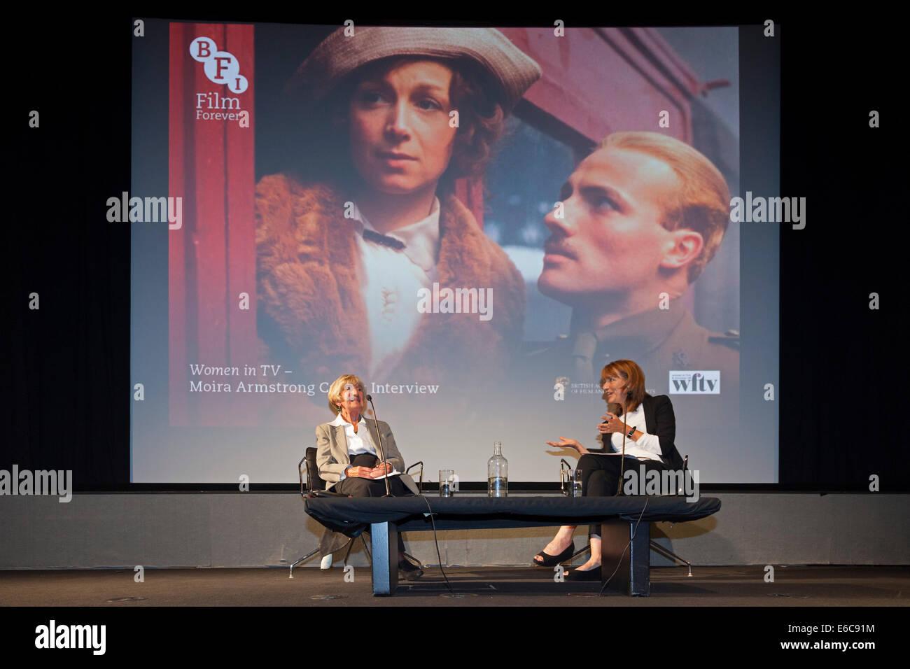 London, England, UK, 19 August 2014. Legendary BAFTA-Award winning multi-camera television drama director Moira - Stock Image