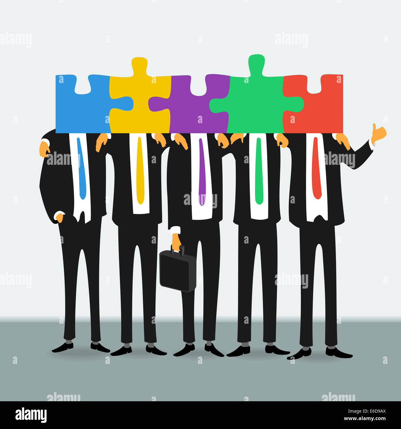 Team of successful business people - Stock Image