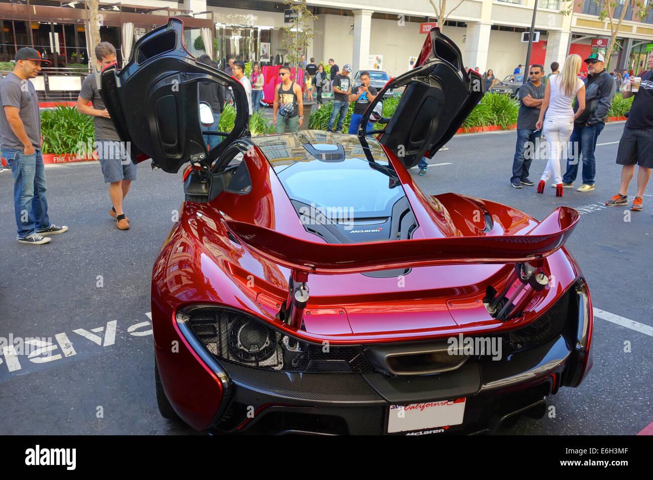 San Jose, California - 23 August, 2014 A rare 2015 McLaren P1 plug ...