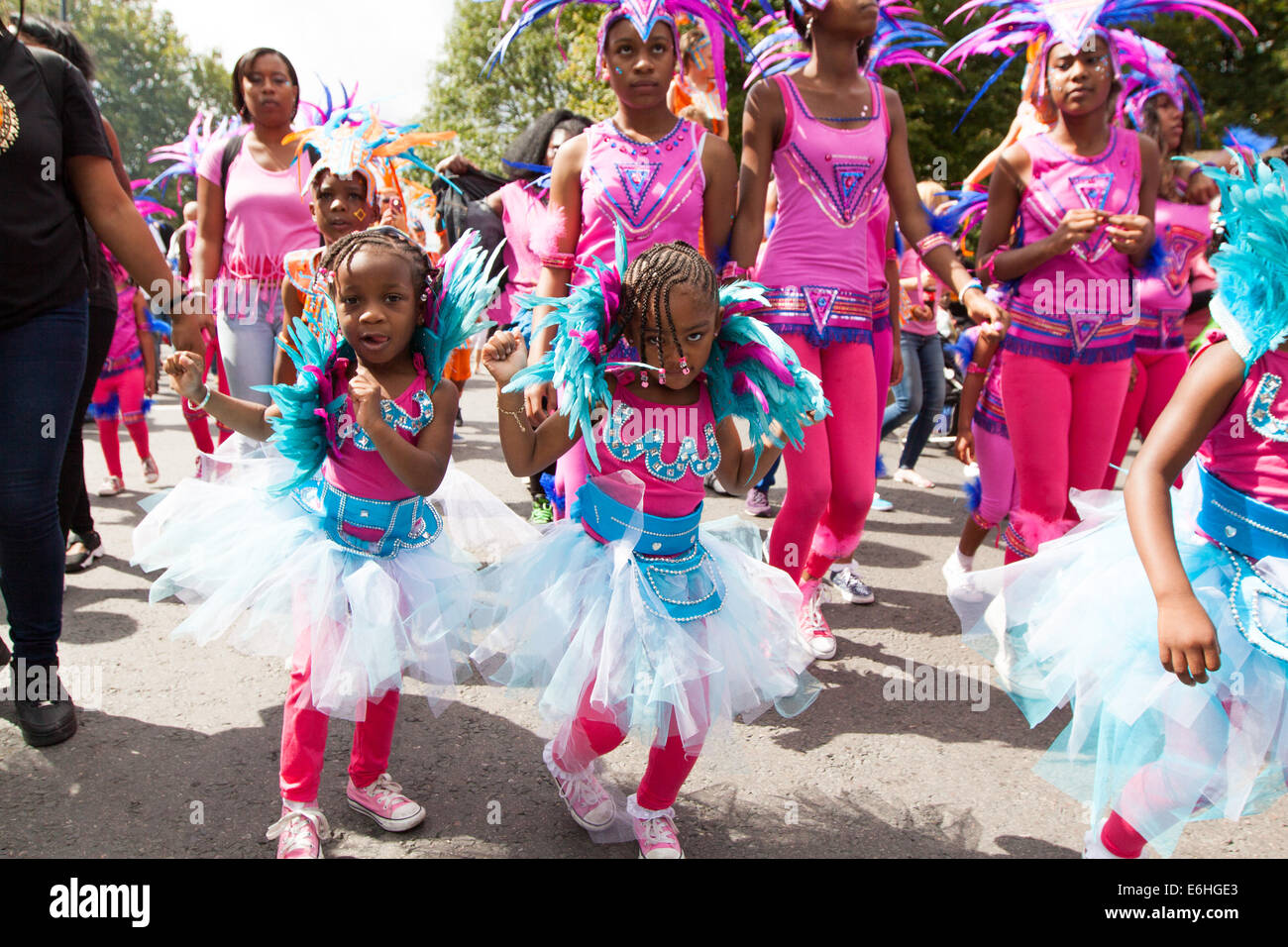 Notting Hill Carnival 2014, Notting Hill, West London, London, UK 24th August 2014 Family Day at the Carnival 2014 Stock Photo