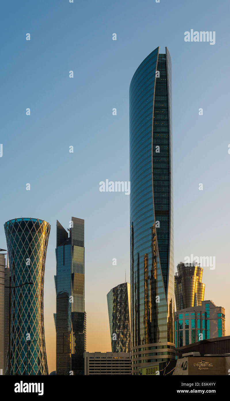 Skyscrapers, Doha, Qatar, United Arab Emirates - Stock Image