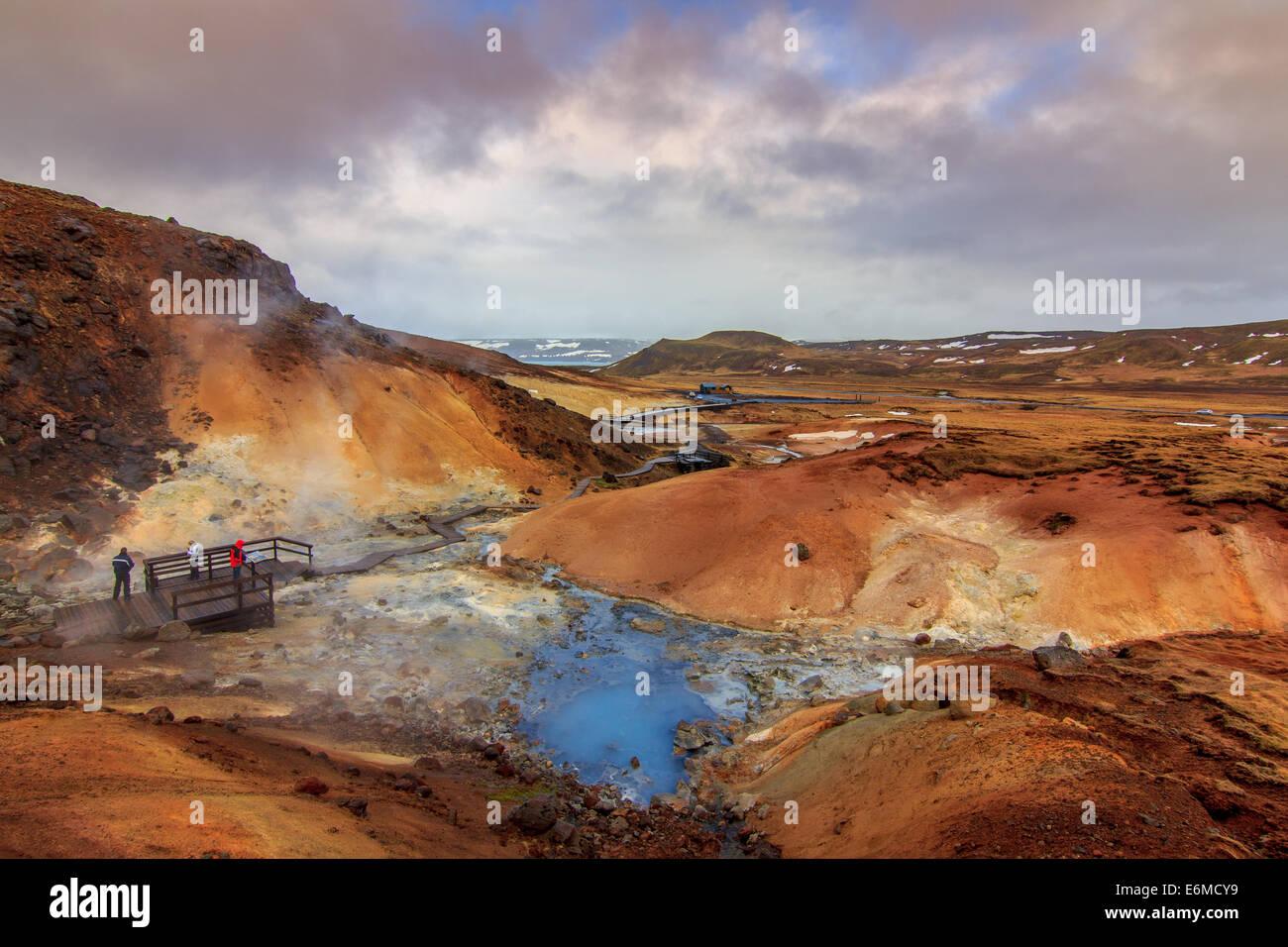 Krysuvik - Seltun geothermal area - Stock Image