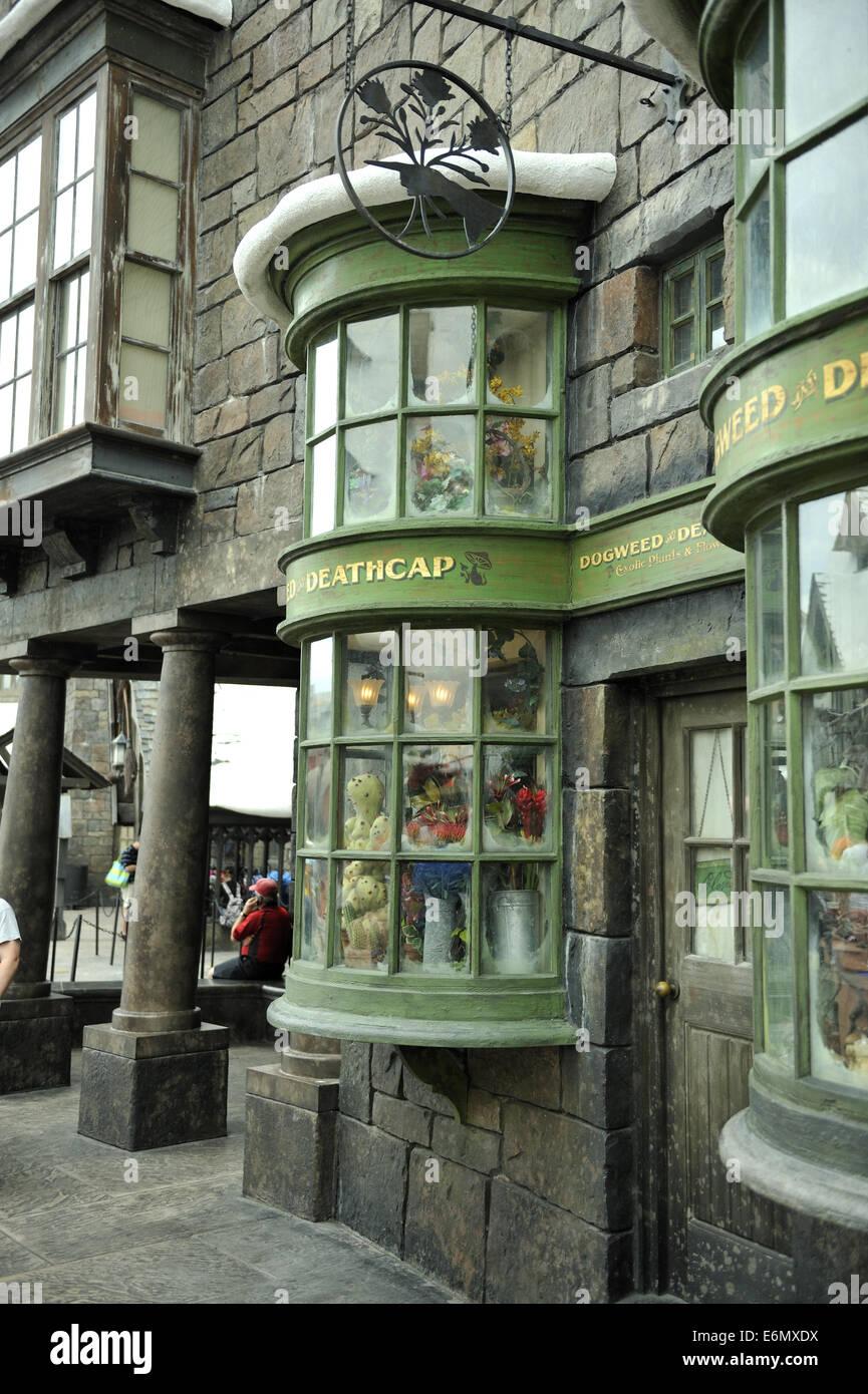 Harry Potter World, Universal Orlando Resort, Orlando, Florida, USA - Stock Image