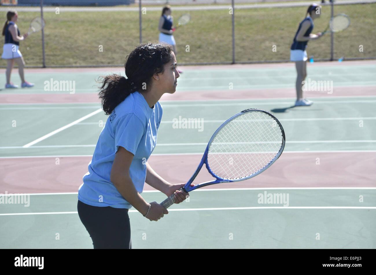 teenage tennis player - Stock Image