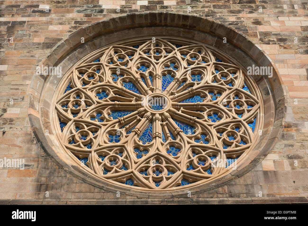 Gothic Rose Window Of The Parish Church St John 14th Century Osnabruck Lower Saxony Germany