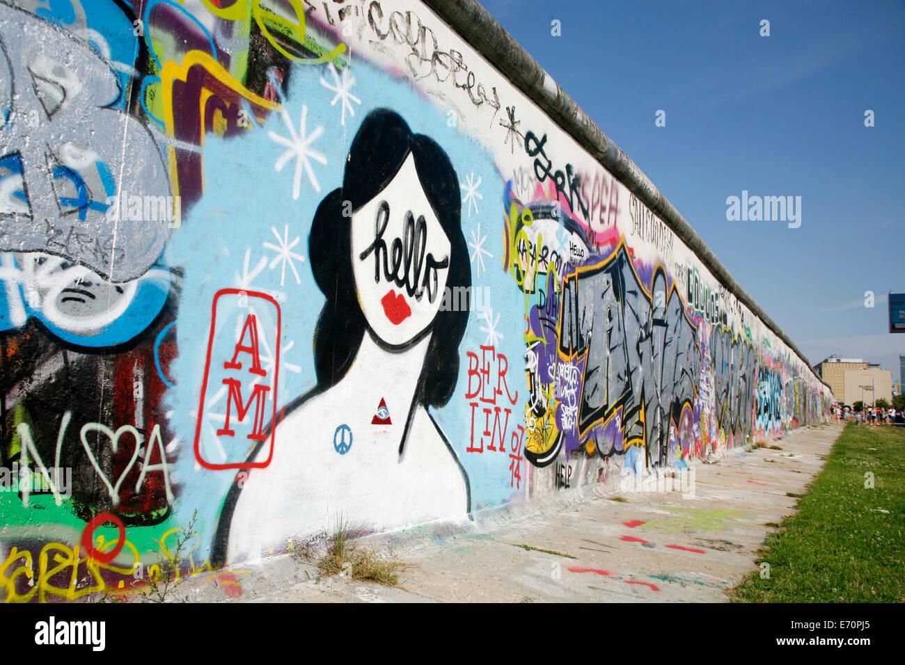 East Side Gallery, Berlin, Germany Stock Photo