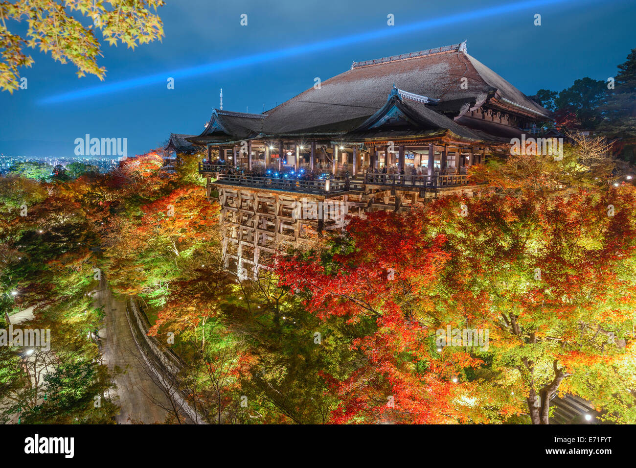 Kyoto, Japan at Kiyomizu-dera Temple in the autumn sesaon. - Stock Image