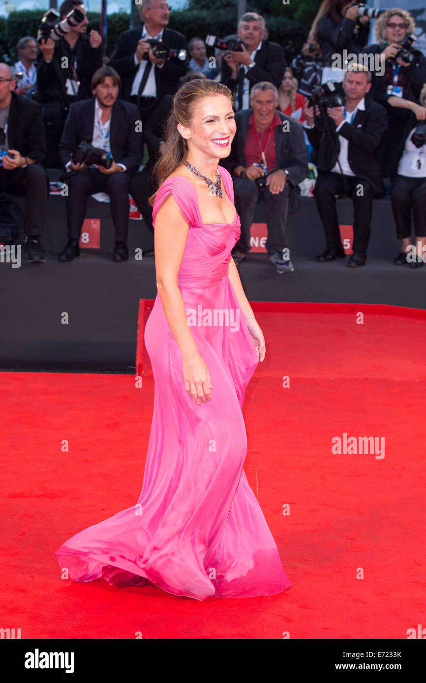 Isabella Ragonese attending the 'Il Giovane Favoloso' premiere at the 71nd Venice International Film Festival - Stock Image