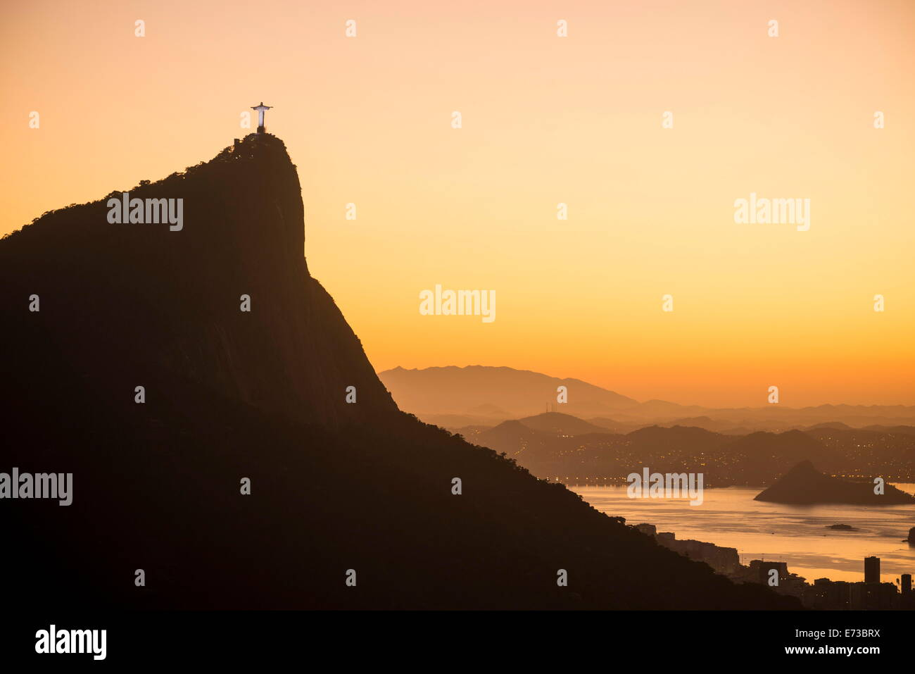 View from Chinese Vista at dawn, Rio de Janeiro, Brazil, South America - Stock Image