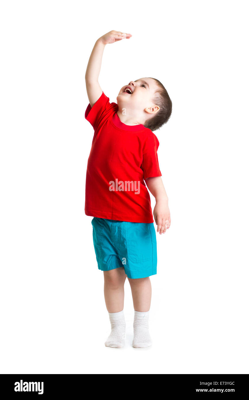 child showing grow - Stock Image