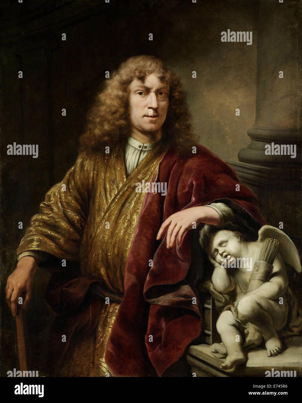Self-portrait - by Ferdinand Bol, 1669 - Stock Image