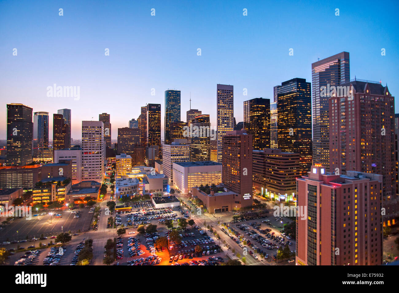 Skyline of Houston, Texas - Stock Image