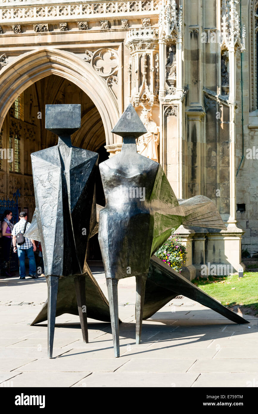 Gloucester, UK. 7th Sep, 2014. Crucible2 exhibition of contemporary sculpture opened at Gloucester Cathedral featuring - Stock Image