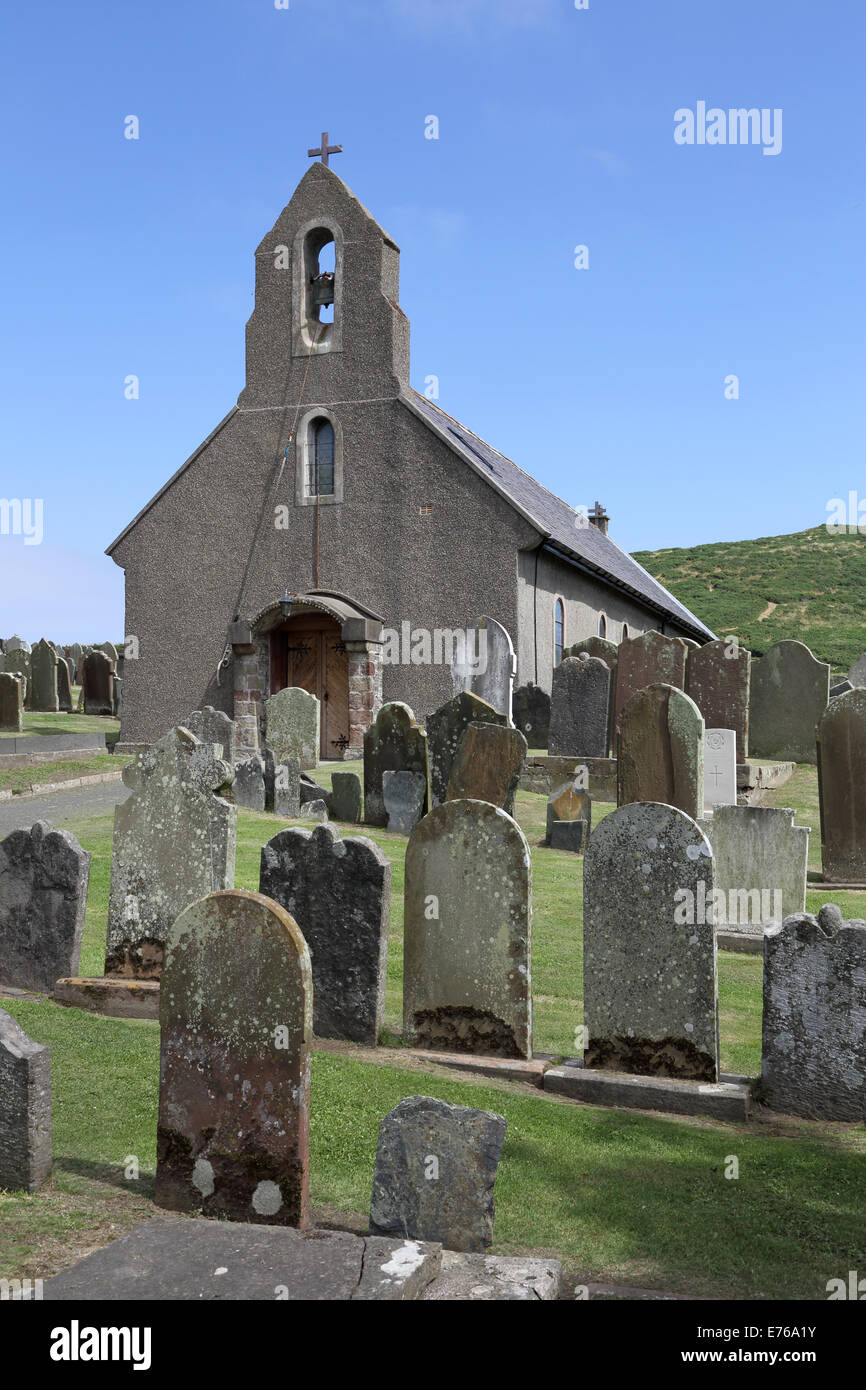 maughold church  on the east coast of the isle of man Stock Photo