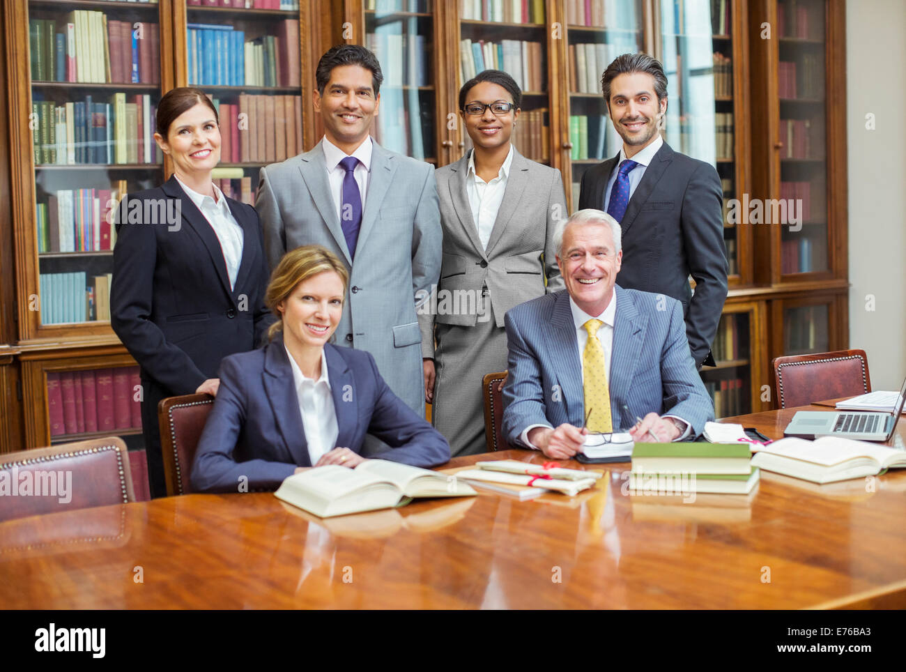 Lawyers together in chambers - Stock Image